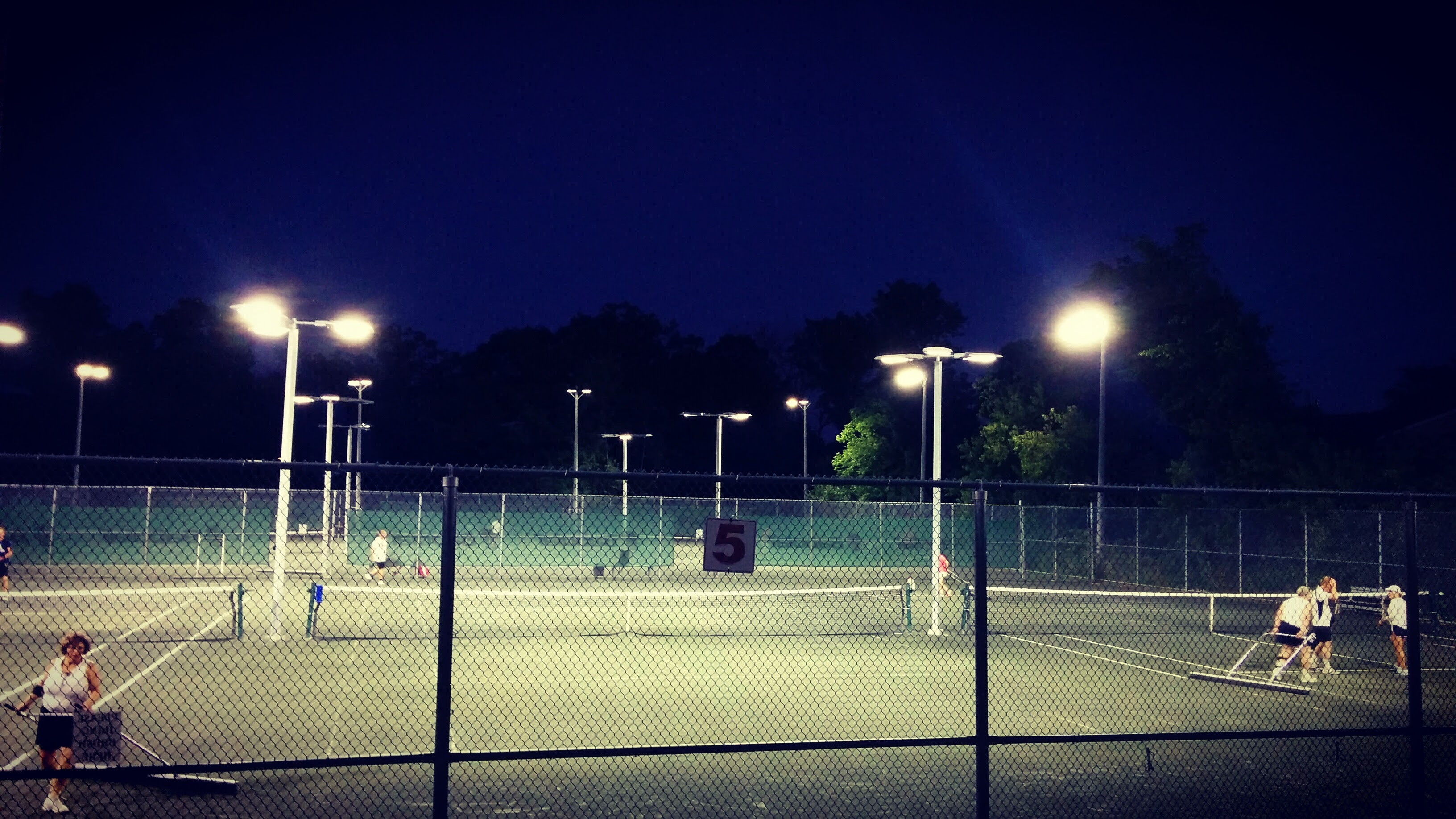 Night time tennis
