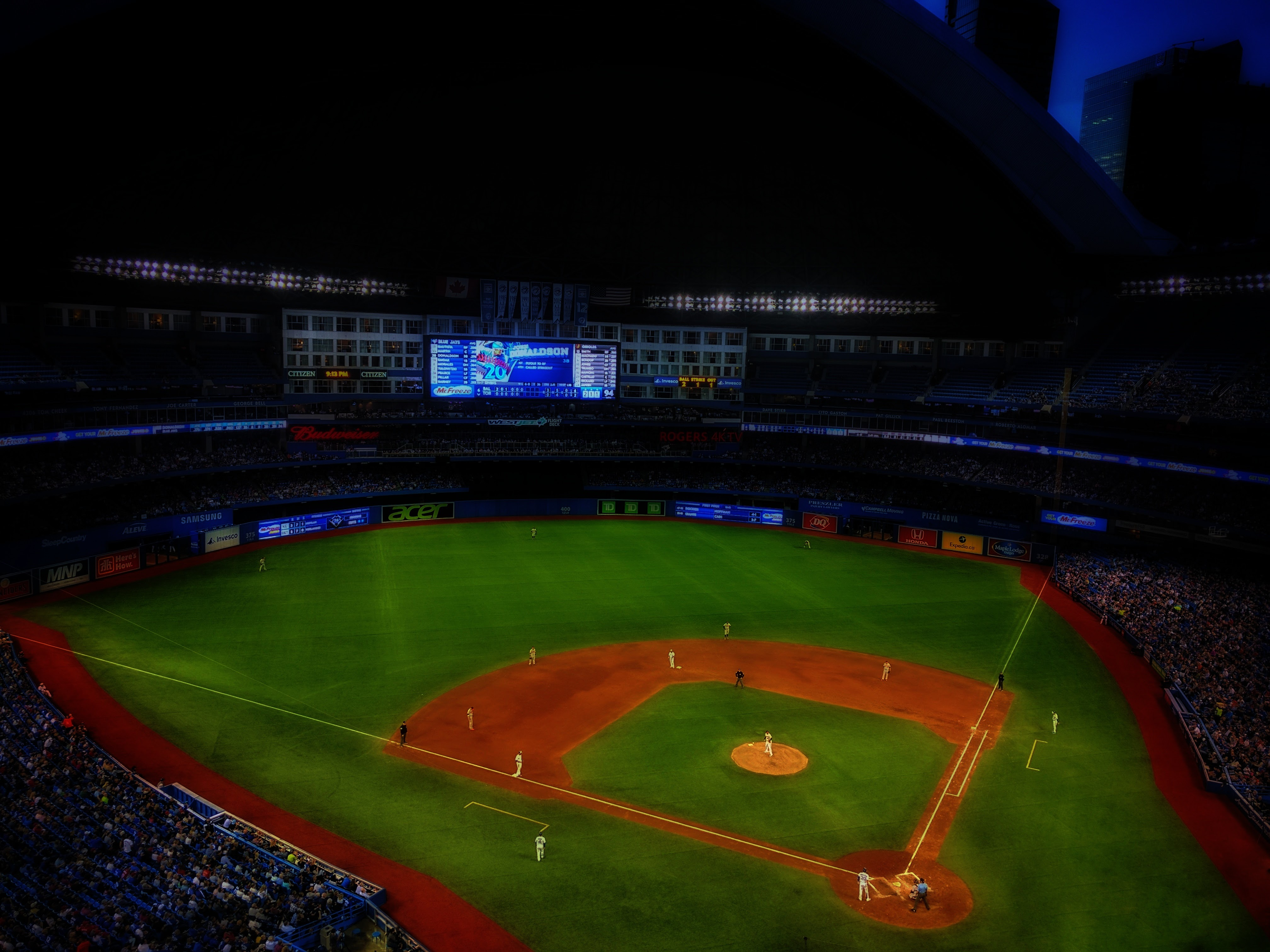 The ball game at the Rogers Center